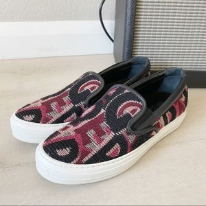 Salvatore Ferragamo Pacaulet Woven Slip On Sneaker